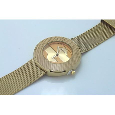 Dámské luxusní hodinky zlaté s logem
