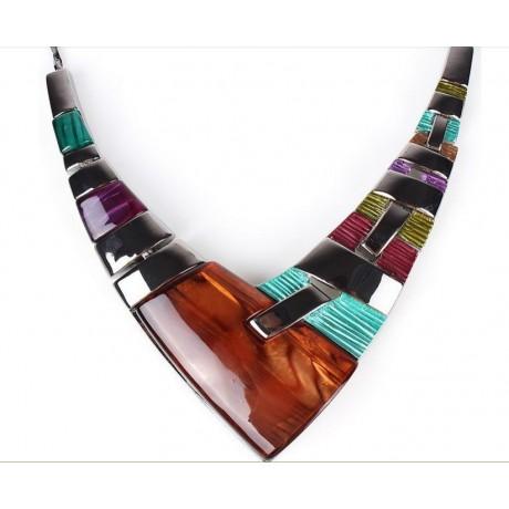 Souprava náhrdelník a náušnice barevná