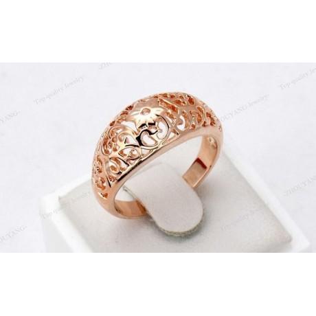 Prsten vzorovaný zlatý